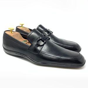 SALVATORE FERRAGAMO Black Leather Luxury Loafer